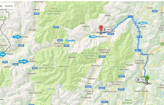 In treno da Trento a Mezzana, Da MEZZANA A TIRANO, e poi a Coira