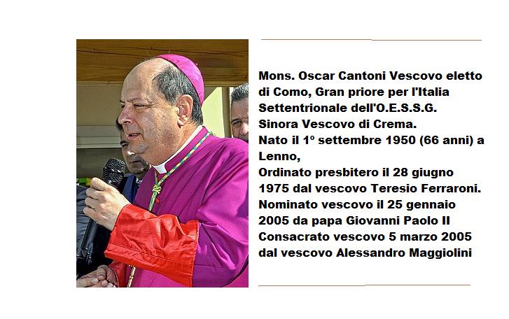 Nuovo Vescovo Oscar Cantoni